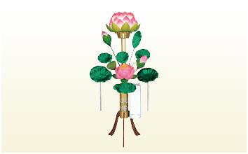 蓮華燈(高さ118cm)